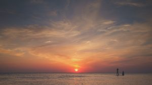 Sun above the sea