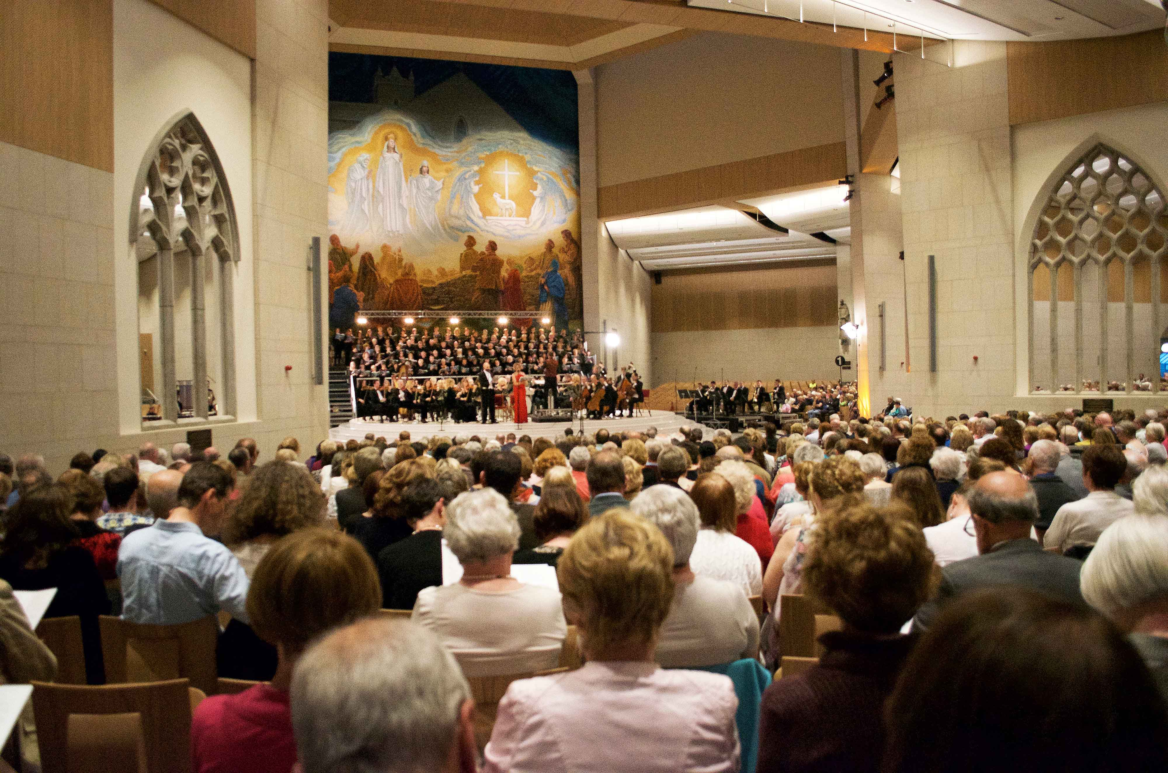 A Concert For Peace, presented by the Mayo International Choral Festival at Knock Basilica, May 14th, in association with the Western Development Commission
