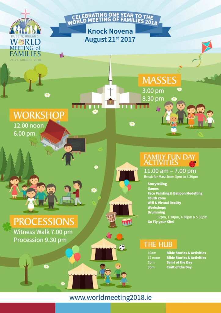 World Meeting of Families Launch, Knock Shrine