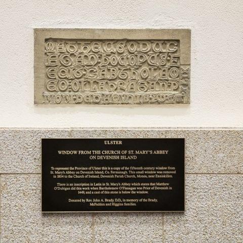 Inscription Leinster Window basilica